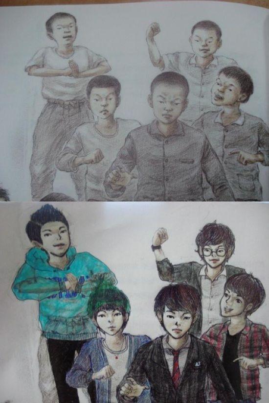 韓国人による教科書の落書きに関連した画像-04