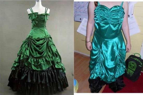 安物ウェディングドレスに関連した画像-09