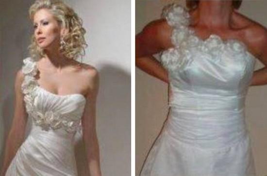 安物ウェディングドレスに関連した画像-04