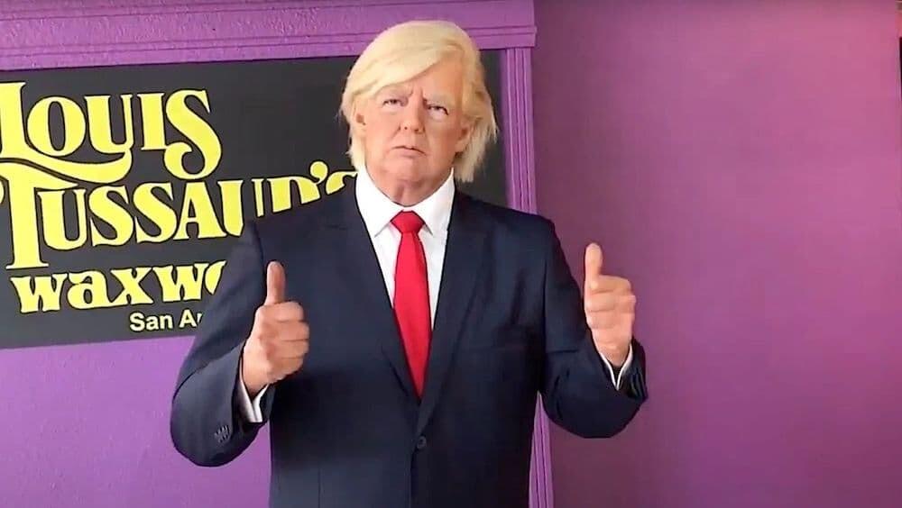 トランプ大統領 アメリカ 蝋人形
