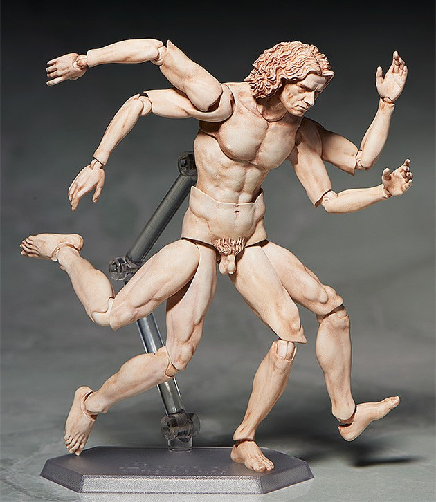 ダヴィンチの 「ウィトルウィウス的人体図」が可動フィギュア化に関連した画像-03