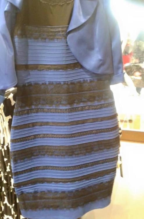 このドレスの色「白と金」に見える?「青と黒