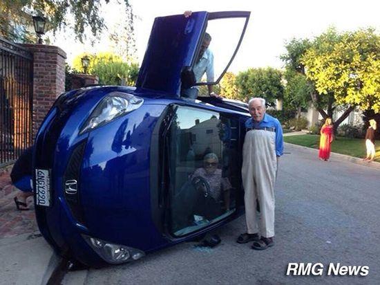 横転事故でばーちゃん自画撮に関連した画像-06