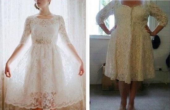 安物ウェディングドレスに関連した画像-03