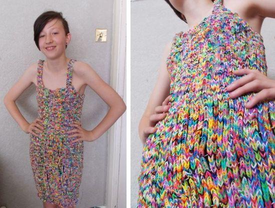 輪ゴムで出来たラバーバンドドレスに関連した画像-03