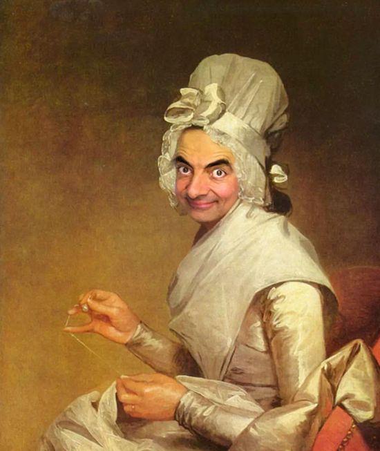 『Mr.ビーン』の顔を歴史ある名画や肖像画に合成に関連した画像-10