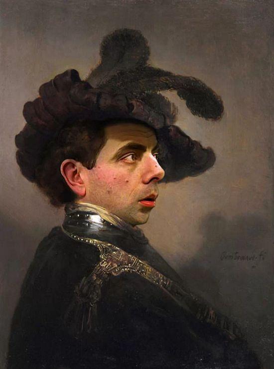 『Mr.ビーン』の顔を歴史ある名画や肖像画に合成に関連した画像-05