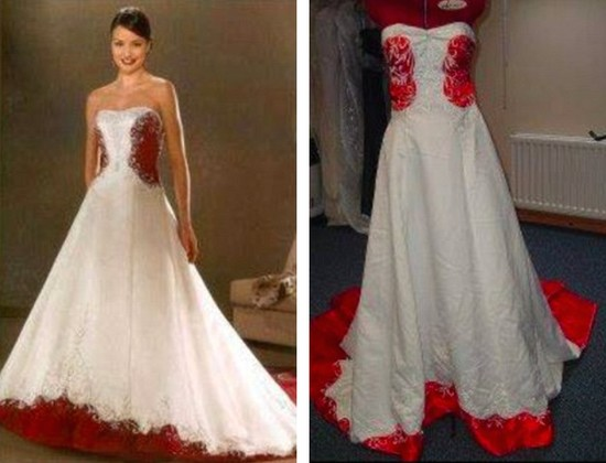 安物ウェディングドレスに関連した画像-07