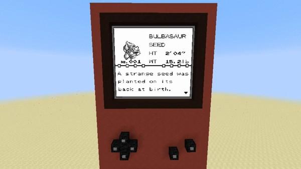 マインクラフト内で『ポケットモンスター 赤』がプレイ可能に関連した画像-03
