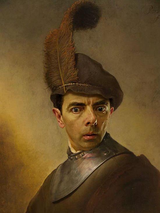 『Mr.ビーン』の顔を歴史ある名画や肖像画に合成に関連した画像-04