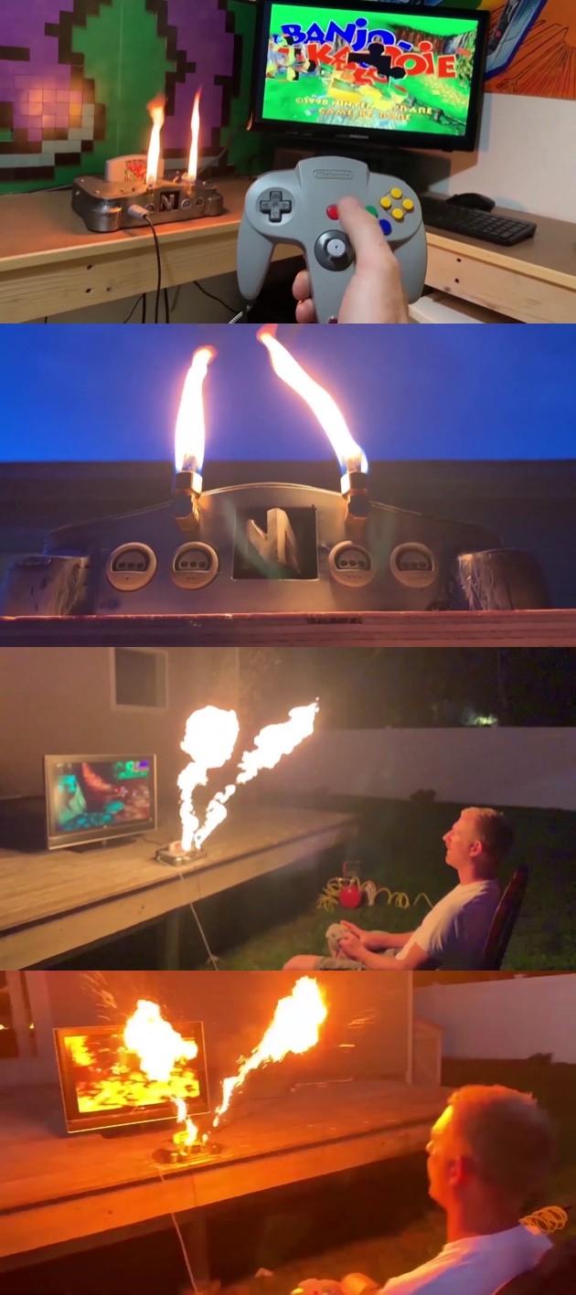 炎を吐くニンテンドー64に関連した画像-03