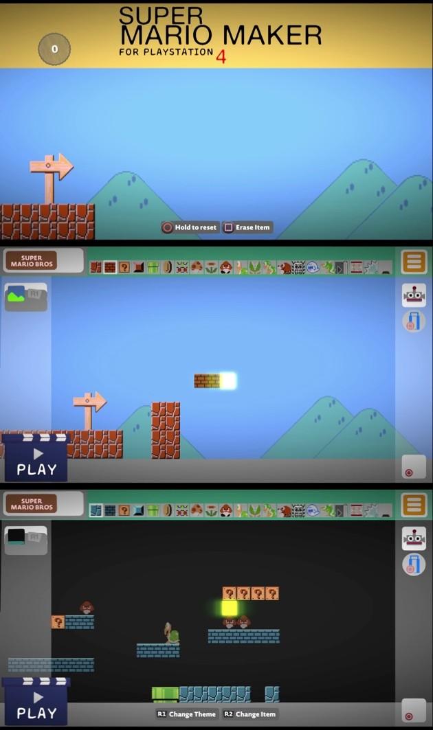 PS4『リトルビッグプラネット3』上で『スーパーマリオメーカー』に関連した画像-02