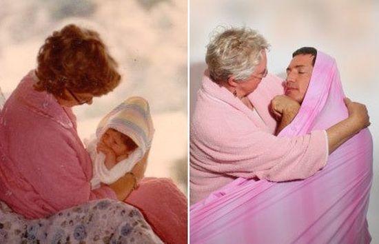 思い出に残る家族写真を現代に甦らせてみたに関連した画像-18