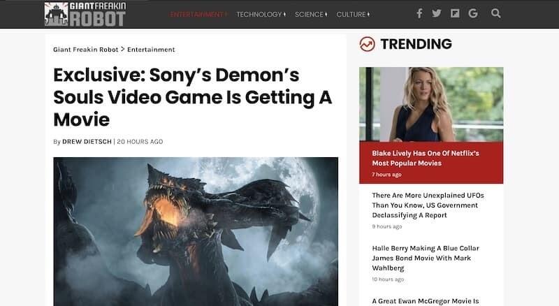 デモンズソウル 映画化 フロムソフトウェア ソニー PS5