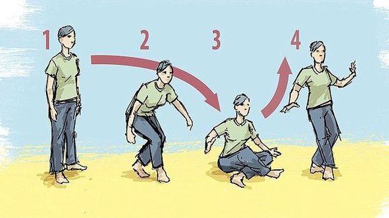 床に座って立ちあがるに関連した画像-01