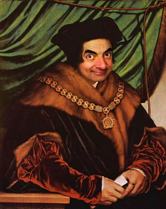 『Mr.ビーン』の顔を歴史ある名画や肖像画に合成に関連した画像-12
