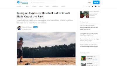 YouTube ホームラン 野球バットに関連した画像-02