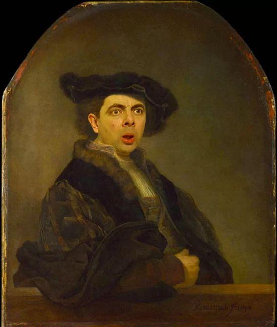 『Mr.ビーン』の顔を歴史ある名画や肖像画に合成に関連した画像-02