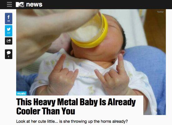 メタルの血筋!赤ちゃんが「メロイック・サイン」に関連した画像-04