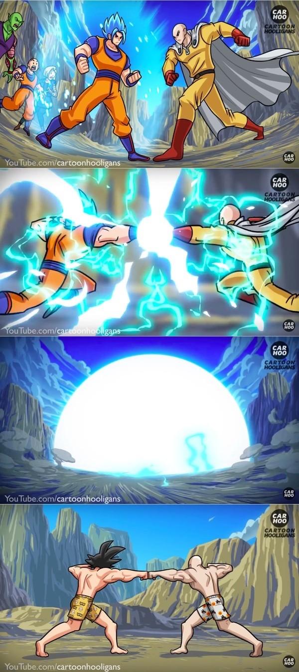 『ドラゴンボール』悟空VS『ワンパンマン』サイタマに関連した画像-05