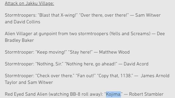 小島秀夫監督の名前が『スター・ウォーズ/フォースの覚醒』劇中で叫ばれていたに関連した画像-02