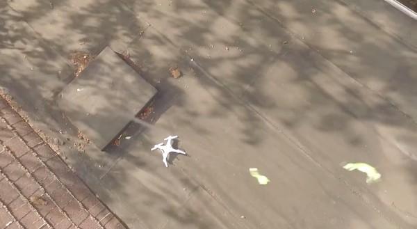 隣人の屋根上にドローンが墜落!別のドローンで救出に関連した画像-04
