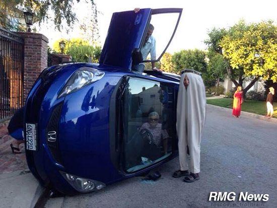 横転事故でばーちゃん自画撮に関連した画像-07