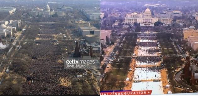 """トランプ大統領就任式に集まった""""記録破りの大群衆""""に関連した画像-04"""
