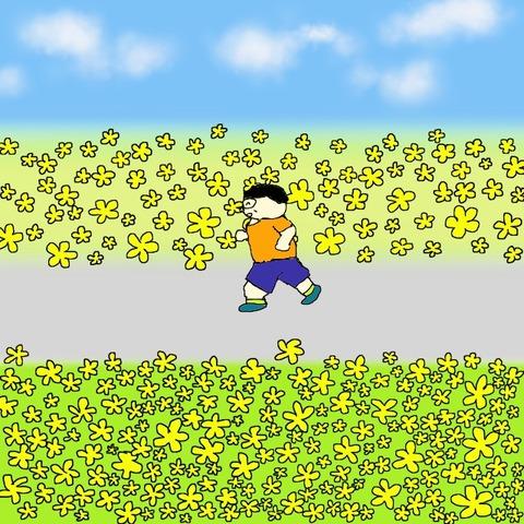 160515黄色い花の咲く道