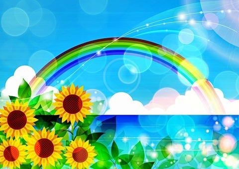 sunflower-and-rainbow-3740939__340