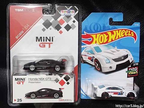 MINIGTホンダNSX-GTとホットウィール・キャデラックATS_01
