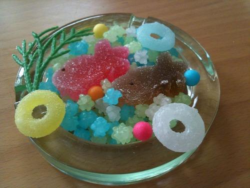 金魚お菓子灰皿