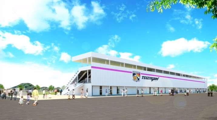 JFLテゲバジャーロ宮崎が新スタジアムの完成予想図を公開 5000人収容で来年10月竣工