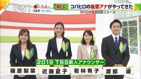 【悲報】TBSの新人アナウンサーがwwwww(画像)