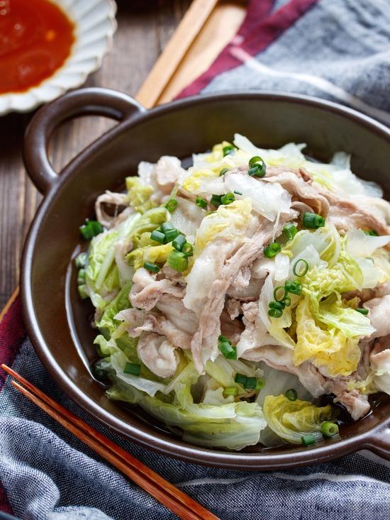 豚バラ白菜重ね蒸し3