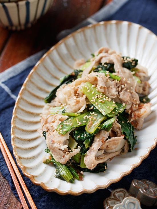 豚バラ小松菜6