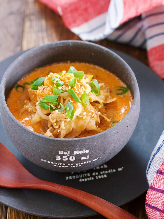 豆乳キムチスープ14