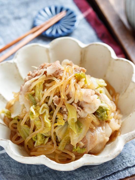 豚バラ白菜すき焼き5