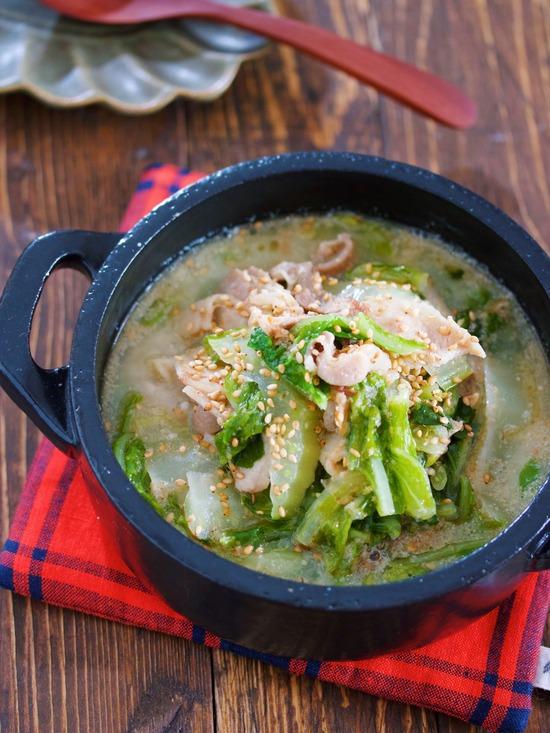 豚バラ白菜ごまみそスープ5