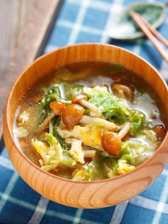 なめこかき玉スープ7