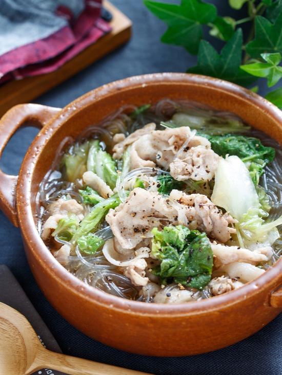 豚バラ白菜スープ4