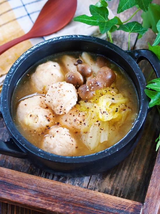 鶏団子白菜とろみスープ4