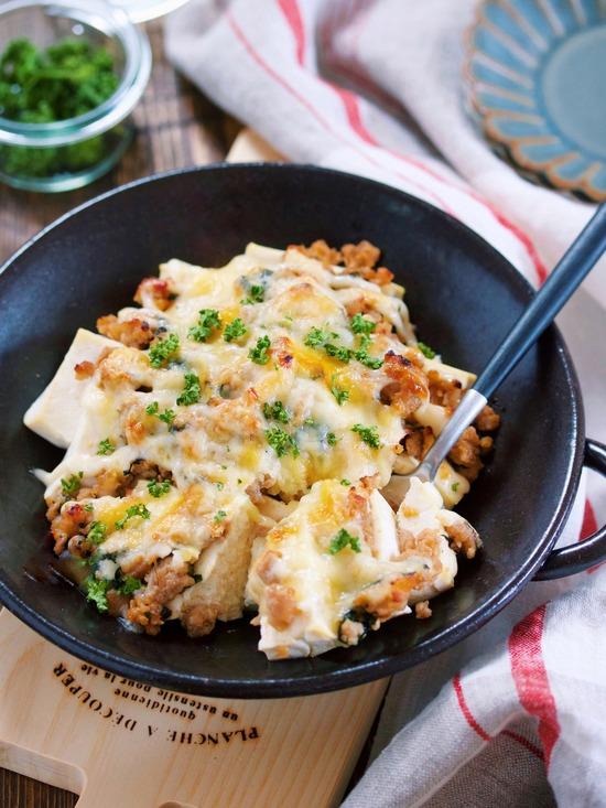 肉味噌豆腐グラタン16