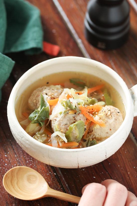 鶏団子ネギ塩スープ6