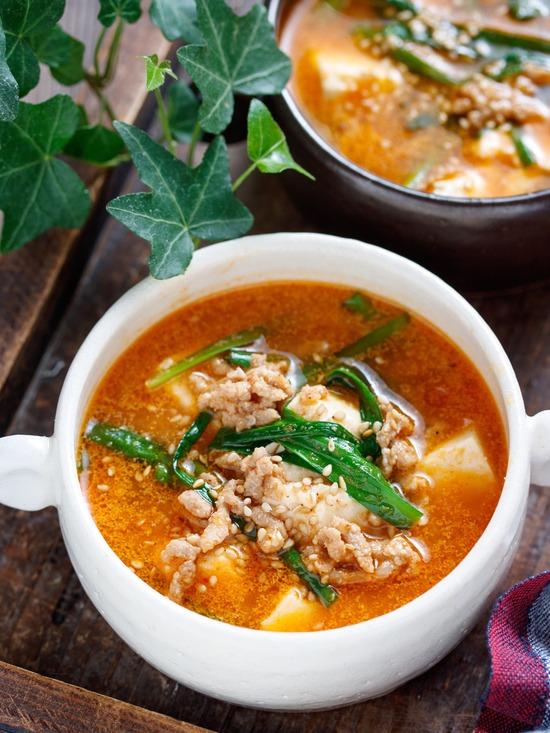 豆腐とひき肉のスープ6