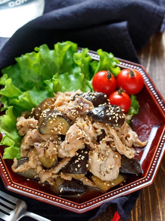 豚なす生姜焼き2