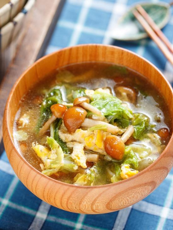 なめこかき玉スープ3