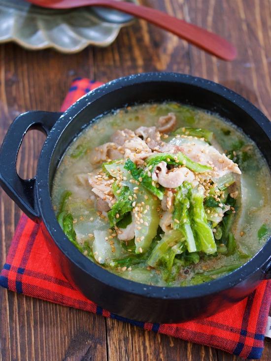 豚バラ白菜ごまみそスープ7
