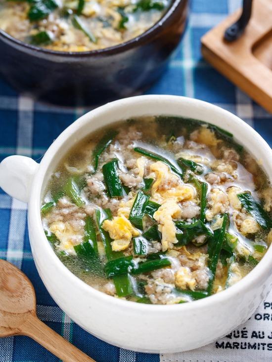 ニラ玉スープ4