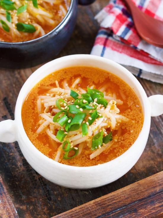 ピリ辛もやしスープ5